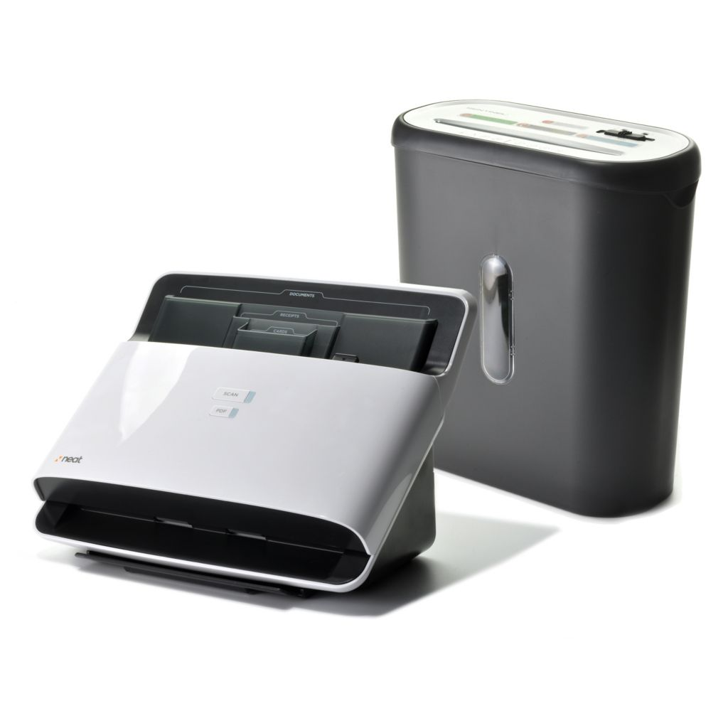 441-212 - NeatDesk® Digital Filing System & Desktop Scanner w/ Software & Eight-Sheet Shredder
