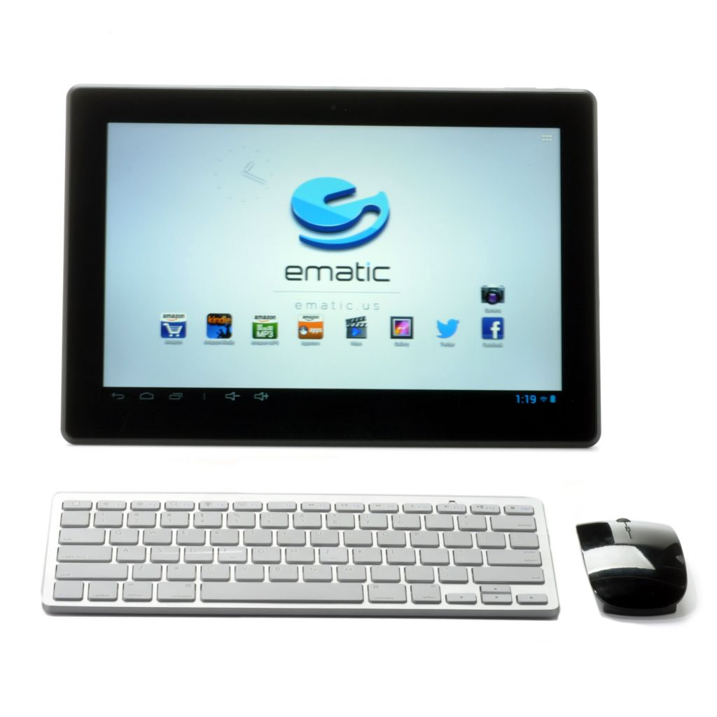 "441-234 - Ematic 13.3"" 8GB Dual-Core Cinema Tablet w/ Bluetooth® Mouse & Keyboard"