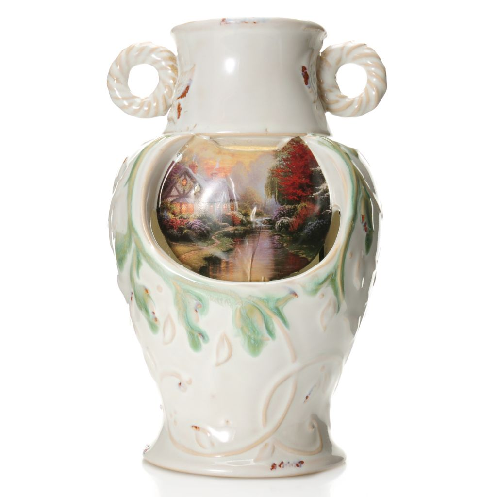 "441-242 - Thomas Kinkade ""A Quiet Evening"" 9.5"" Porcelain Tabletop Fountain"
