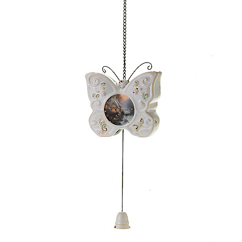 441-243 - Thomas Kinkade 6'' Porcelain Hanging Butterfly Bell