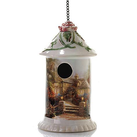 441-244 - Thomas Kinkade 9.5'' Porcelain Hanging Birdhouse