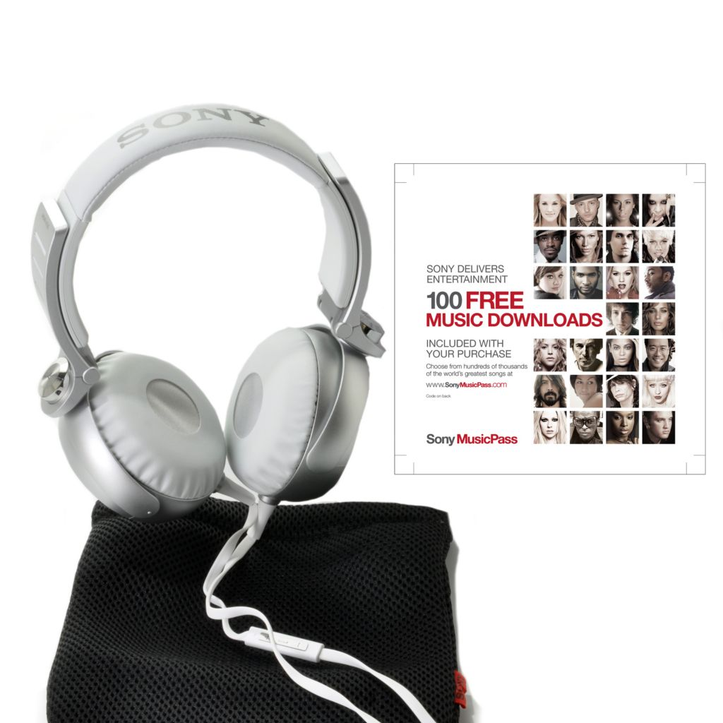 441-272 - Sony On-Ear Noise Isolating Stereo Headphones w/ 100 Sony Music Downloads