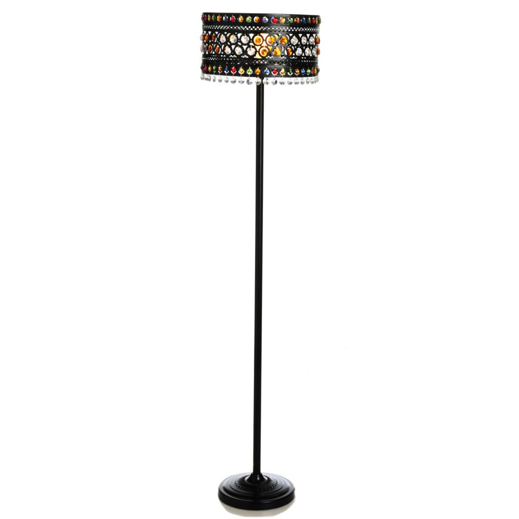 "441-278 - Style at Home with Margie 62.5"" Moroccan Crystal Jewels Floor Lamp"