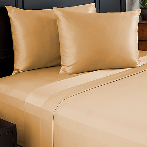 441-282 - Cozelle® Choice of Color Fine Weave Satin Four-Piece Sheet Set