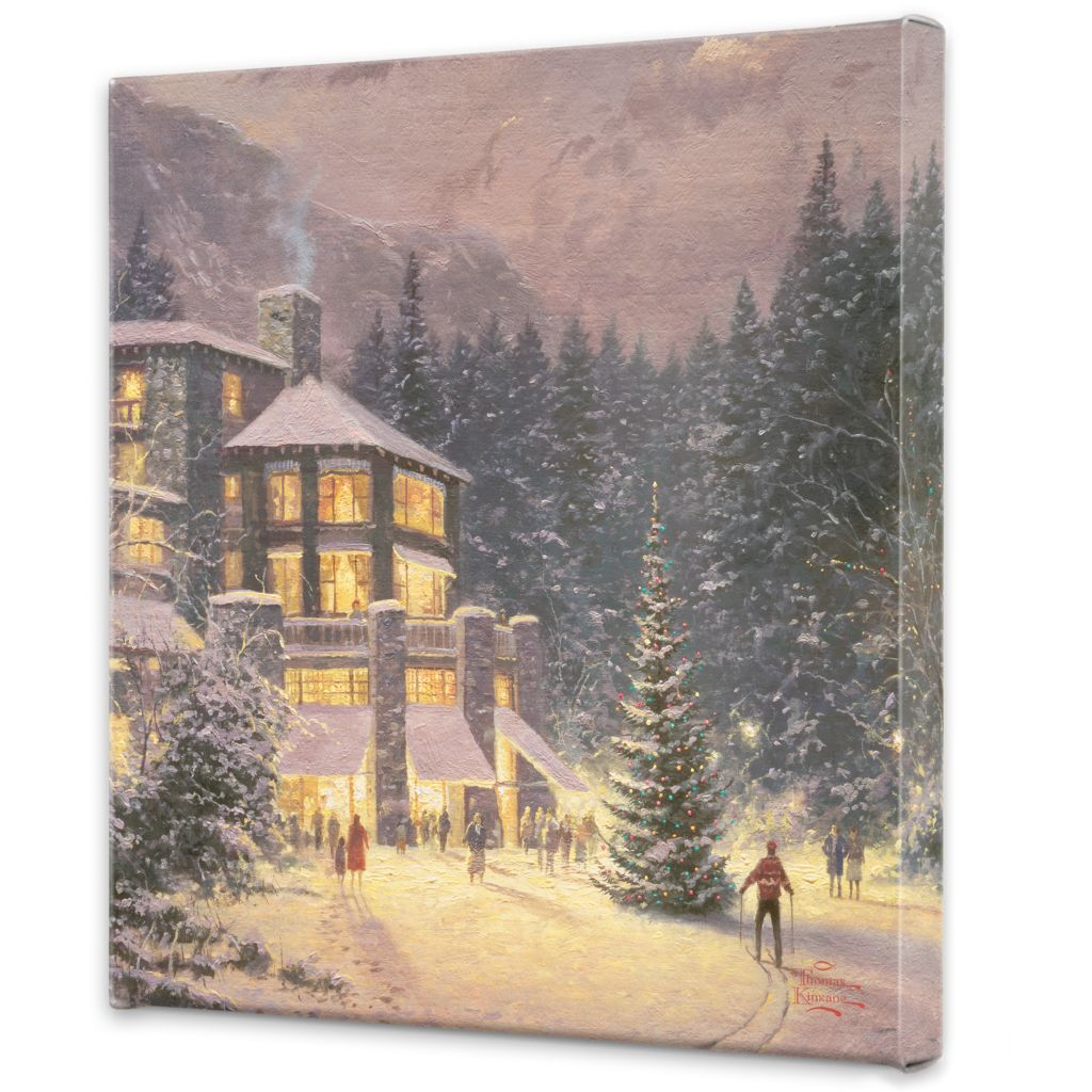 "441-288 - Thomas Kinkade ""Christmas at the Ahwahnee"" 20"" x 20"" Gallery Wrap"