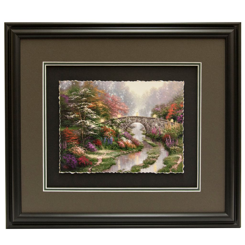 "441-292 - Thomas Kinkade Inspirational ""Stillwater Bridge"" Framed Print"