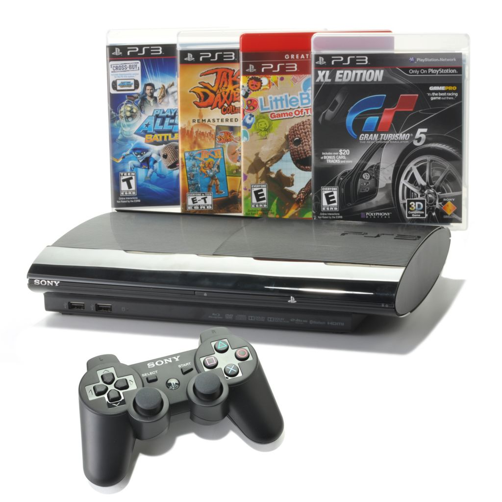 441-310 - Sony PlayStation 3 12GB Game Console w/ Four Games & Wireless Controller