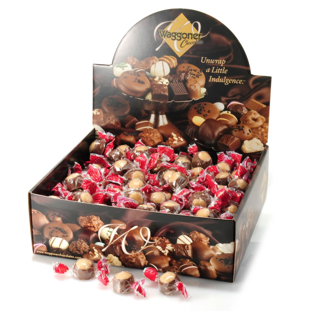 441-326 - Waggoner Chocolates 4 lb Individually Wrapped Milk Chocolate Peanut Butter Buckeyes