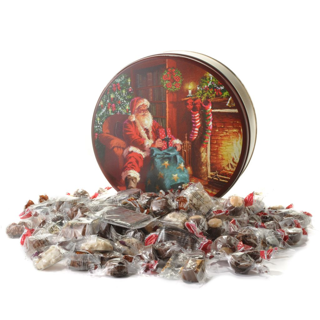 441-335 - Waggoner Chocolate 3 lb Individually Wrapped Chocolate Holiday Collection Tin