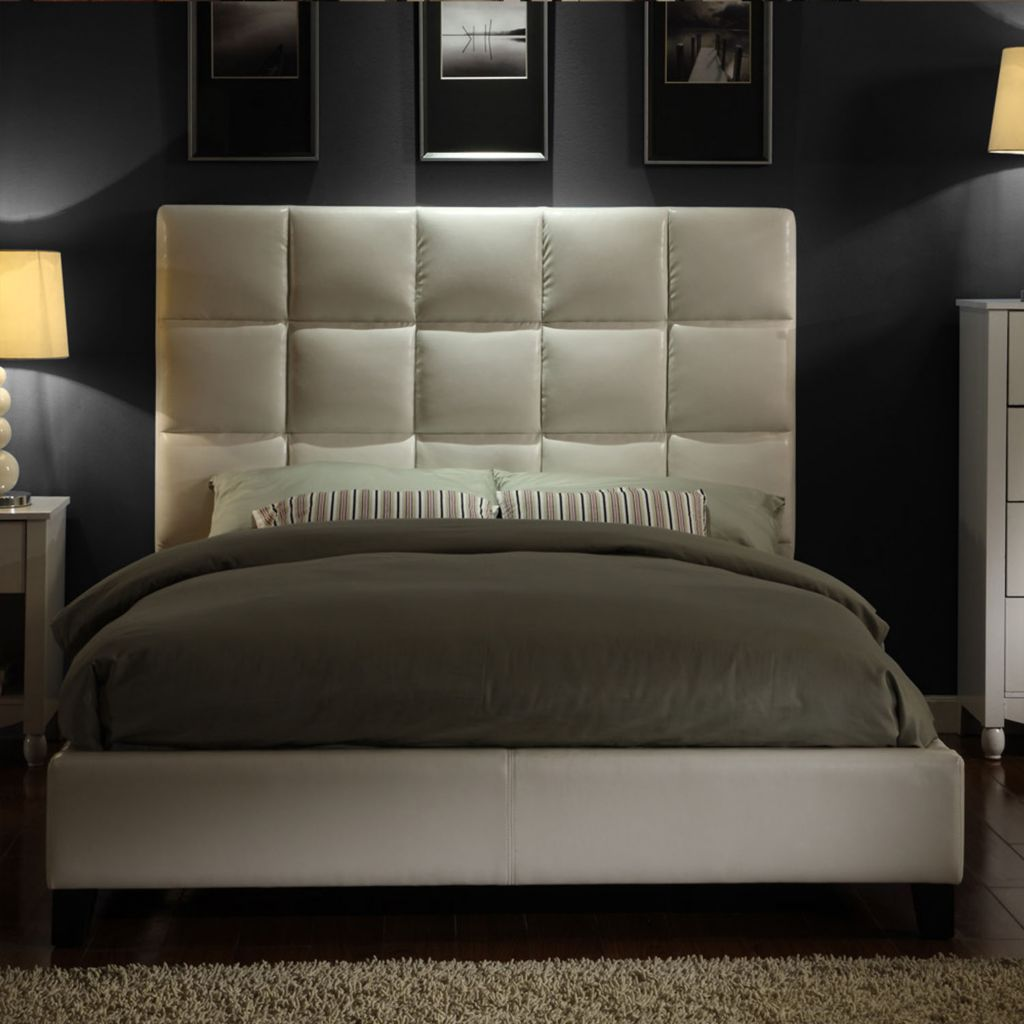 441-337 - Tufted Faux Leather Queen-Size Bed