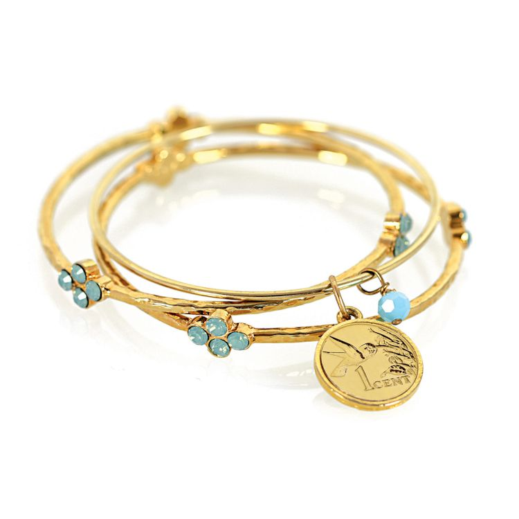 441-351 - Coin Bangle Bracelet Set