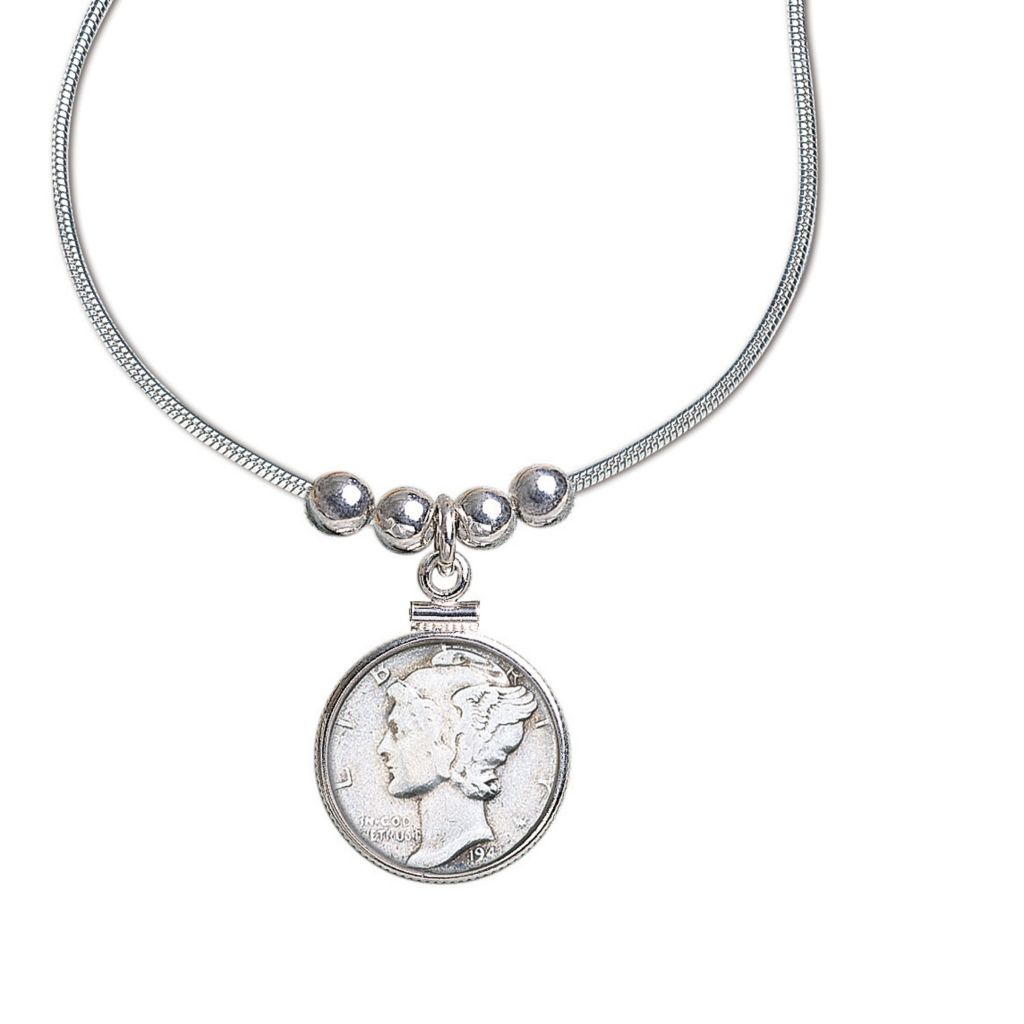 441-367 - Sterling Silver Dime Pendant Collection