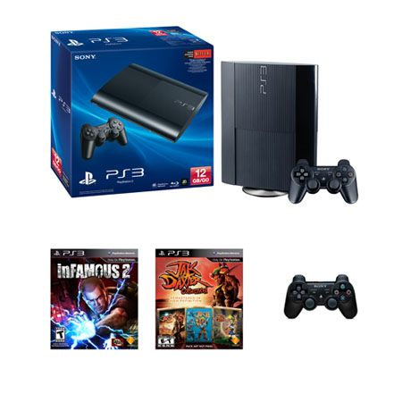 441-388 - Sony® PlayStation 3 12GB System w/ inFamous2 & Jax & Dax HD Collection