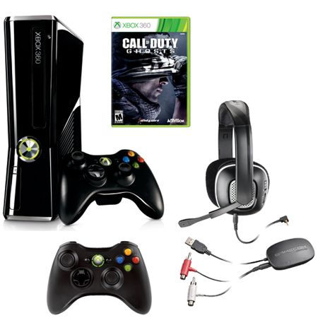 441-422 - Xbox 360 250GB Gaming System w/ Call of Duty: Ghosts Game, Extra Controller & Headset