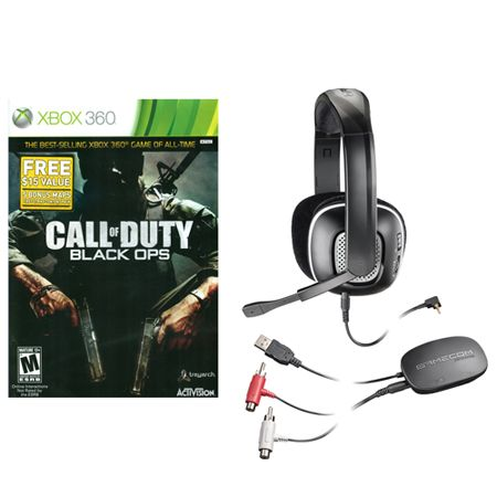 441-424 - Call of Duty Black Ops & X95 Plantronics Wireless Headset bundle