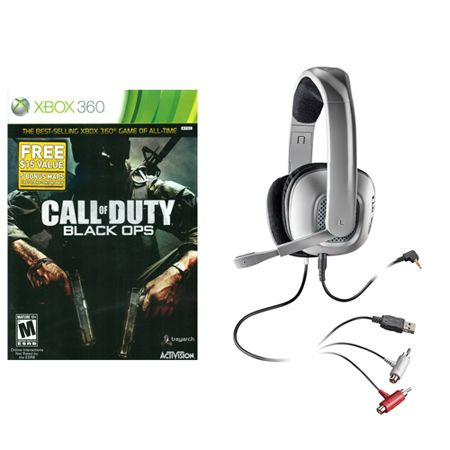 441-425 - Call of Duty Black Ops & X40 Plantronics Stereo Gaming Headset Bundle