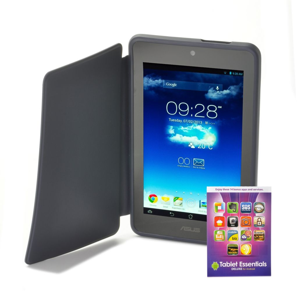 "441-444 - ASUS 7"" MeMo Pad Android™ 4.2 16GB Wi-Fi Tablet w/ Case & Tablet Essential Software"