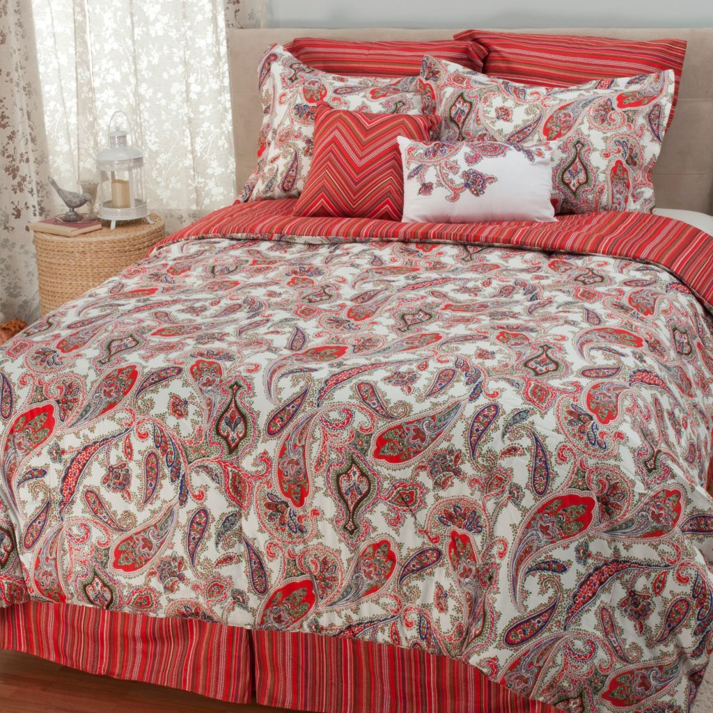441-450 - North Shore Linens™ Paisley Jacquard Eight-Piece Bedding Ensemble