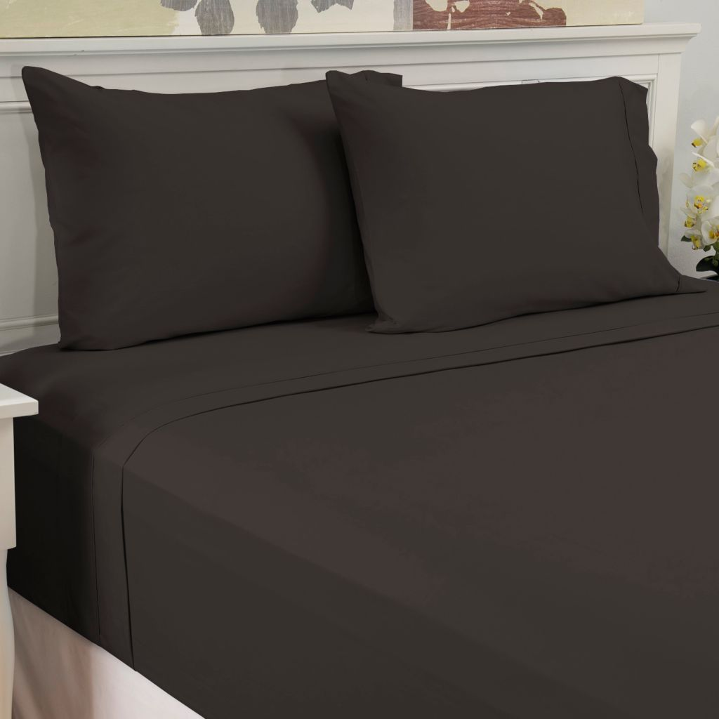 441-479 - North Shore Linens™ 240TC Cotton Percale Four-Piece Sheet Set