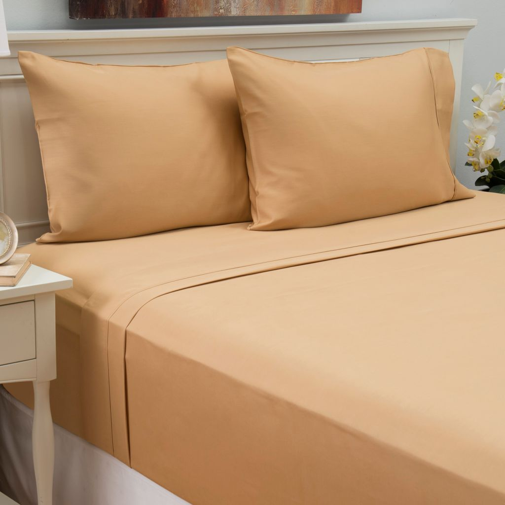 441-480 - North Shore Linens™ 800TC Cotton/Poly Blend Easy Care Four-Piece Sheet Set