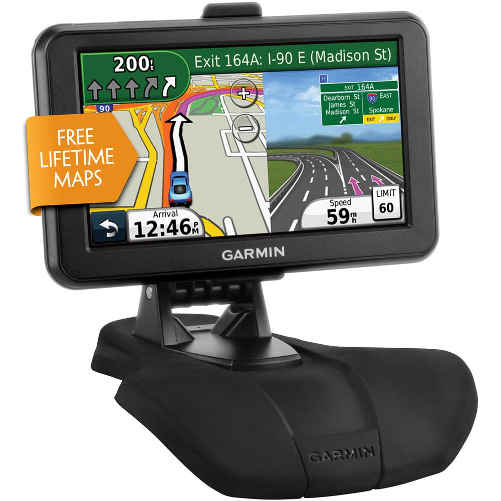 "441-498 - Garmin nüvi 5"" GPS w/ Lifetime Map Updates & Portable Dash Mount"