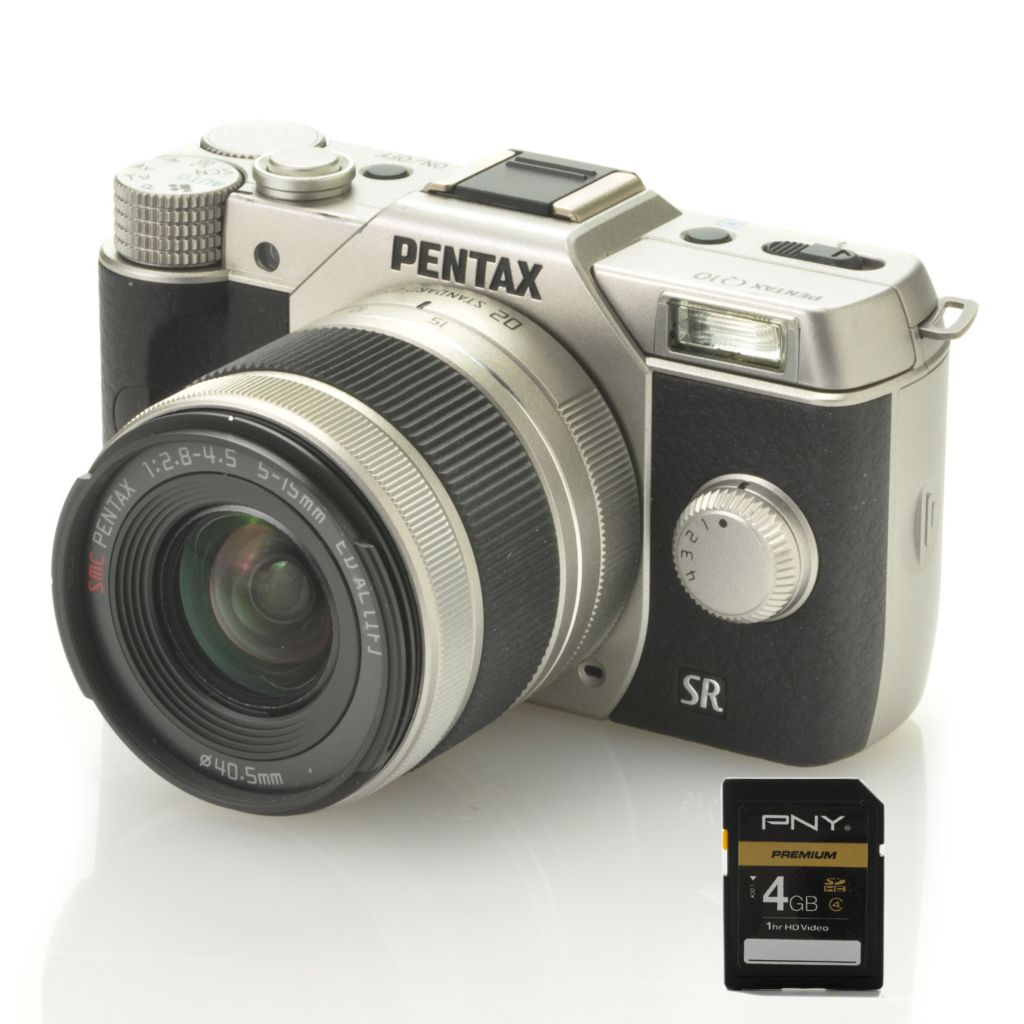 441-500 - Pentax Q10 12.4MP 3X Optical Zoom Camera Kit w/ 5-15mm Zoom Lens