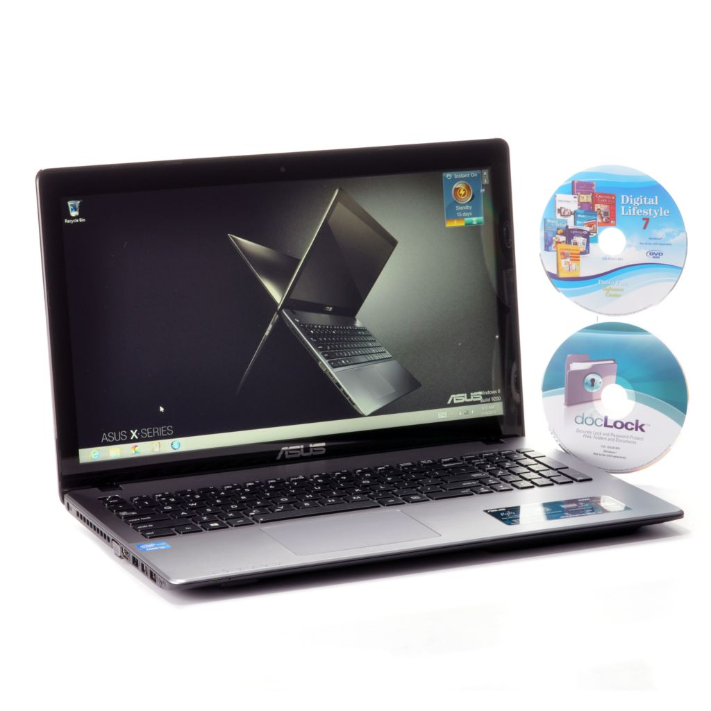 "441-512 - ASUS 15.6"" LED Touch Screen Intel Core™ i3 1.8GHz 4GB RAM/500GB HDD Wi-Fi Laptop & Software"