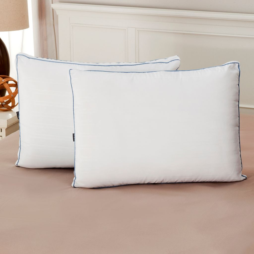 441-521 - Cozelle® 220TC Nano-Tex® Gel-Fiber & Memory Foam Pillow Pair