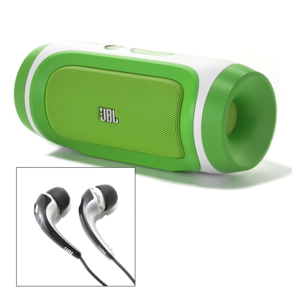 441-522 - JBL by Harman Charge Portable Speaker/ Charger & Tim McGraw In-Ear Headphones