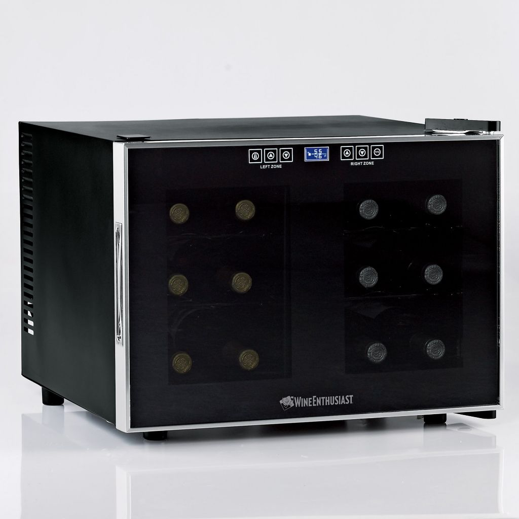 441-567 - Wine Enthusiast Touchscreen Dual Zone Silent 12 Bottle Wine Refrigerator