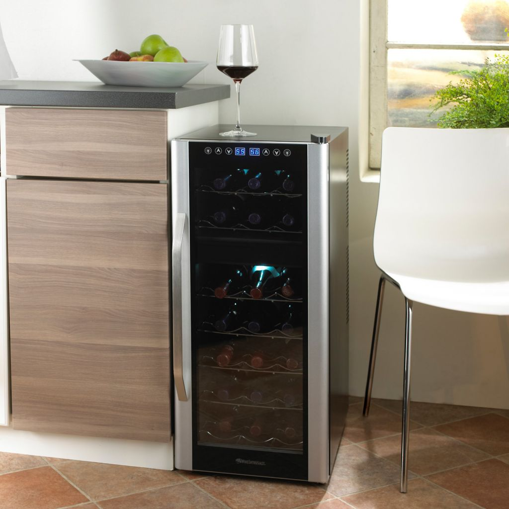 441-569 - Wine Enthusiast Touchscreen Dual Zone Silent 21 Bottle Wine Refrigerator