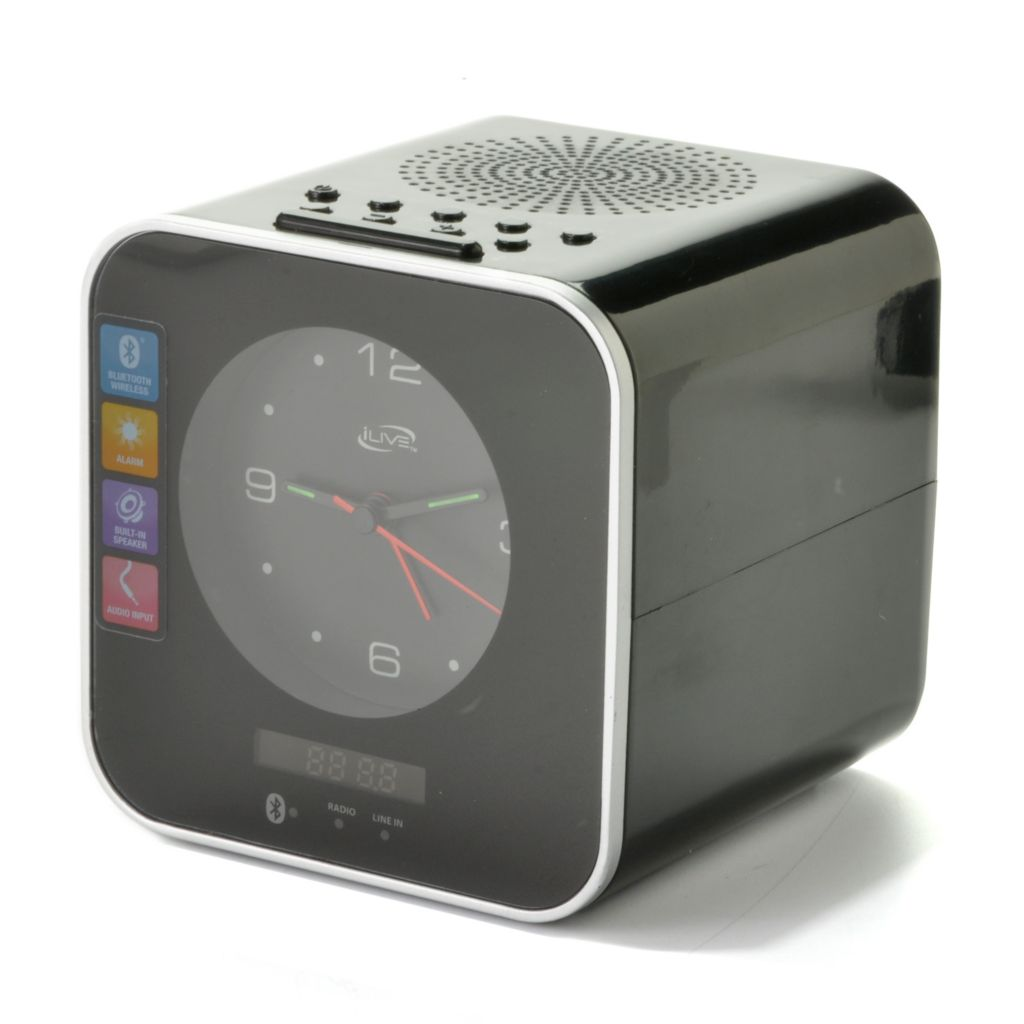 441-648 - iLive™ Wireless Bluetooth® Clock Radio w/ Built-in Speaker