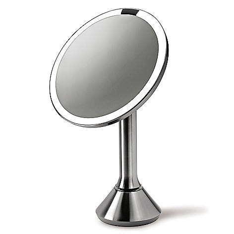441-674 - simplehuman® Stainless Steel Tru-lux™ Lighted Adjustable Vanity Sensor Mirror