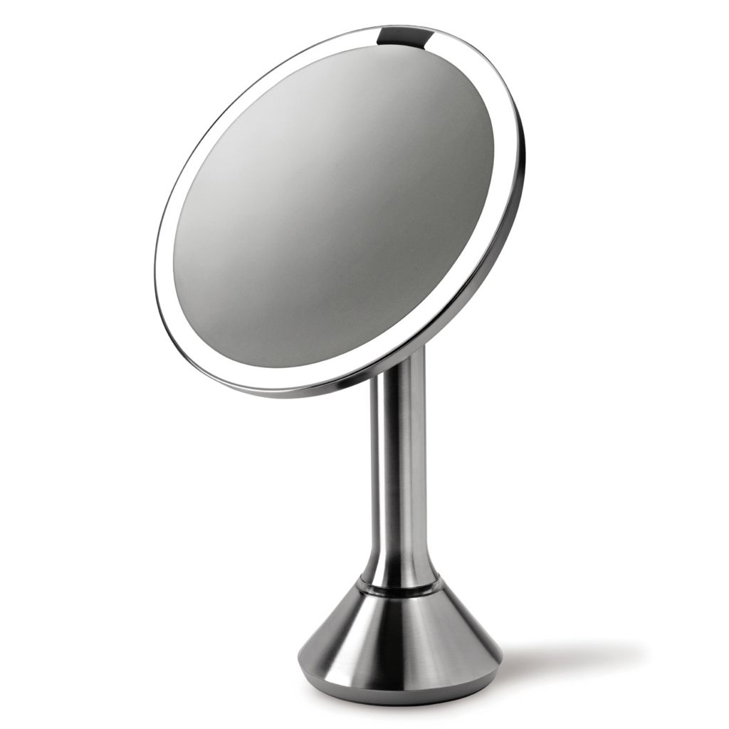 441-674 - simplehuman® Stainless Steel Tru-lux™ Lighted Vanity Sensor Mirror