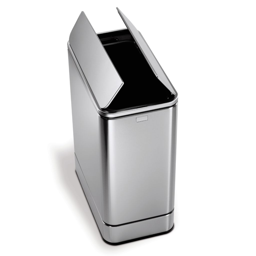 441-680 - simplehuman® 48 L Butterfly Sensor Trash Can w/ Power Adapter & 50 Bonus Liners