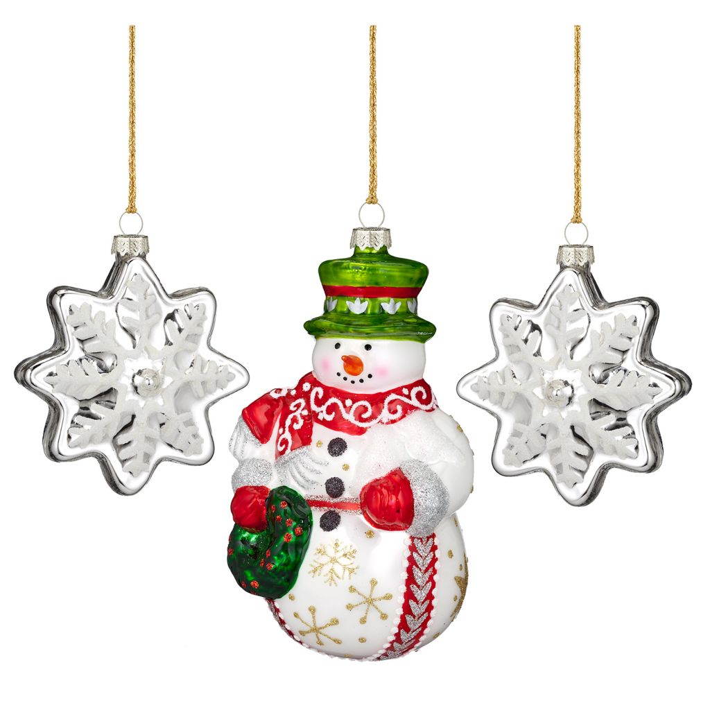 441-707 - Marquis® by Waterford® Christmas Train Three-Piece Glass Ornament Set