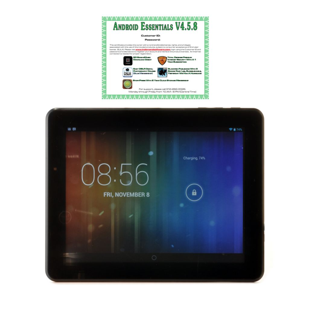 "441-710 - TRAVELTEK Android™ 4.2 9.7"" LCD Dual-Core 4GB Wi-Fi Tablet w/ Google Play & Software"