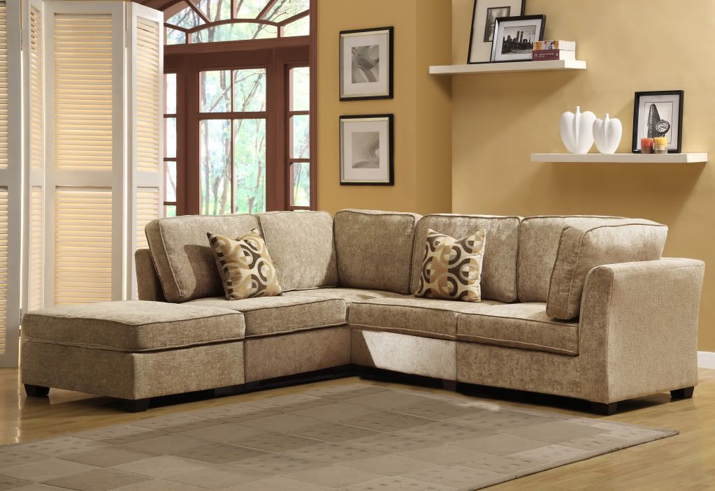 441-718 - Homebasica Five-Piece Modular Chenille Sectional