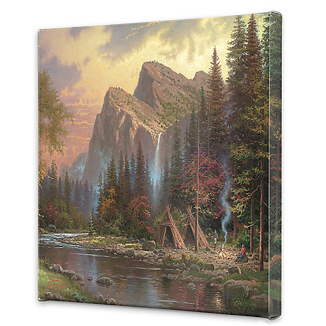 441-734 - Thomas Kinkade ''The Mountains Declare His Glory'' 20'' x 20'' Gallery Wrap