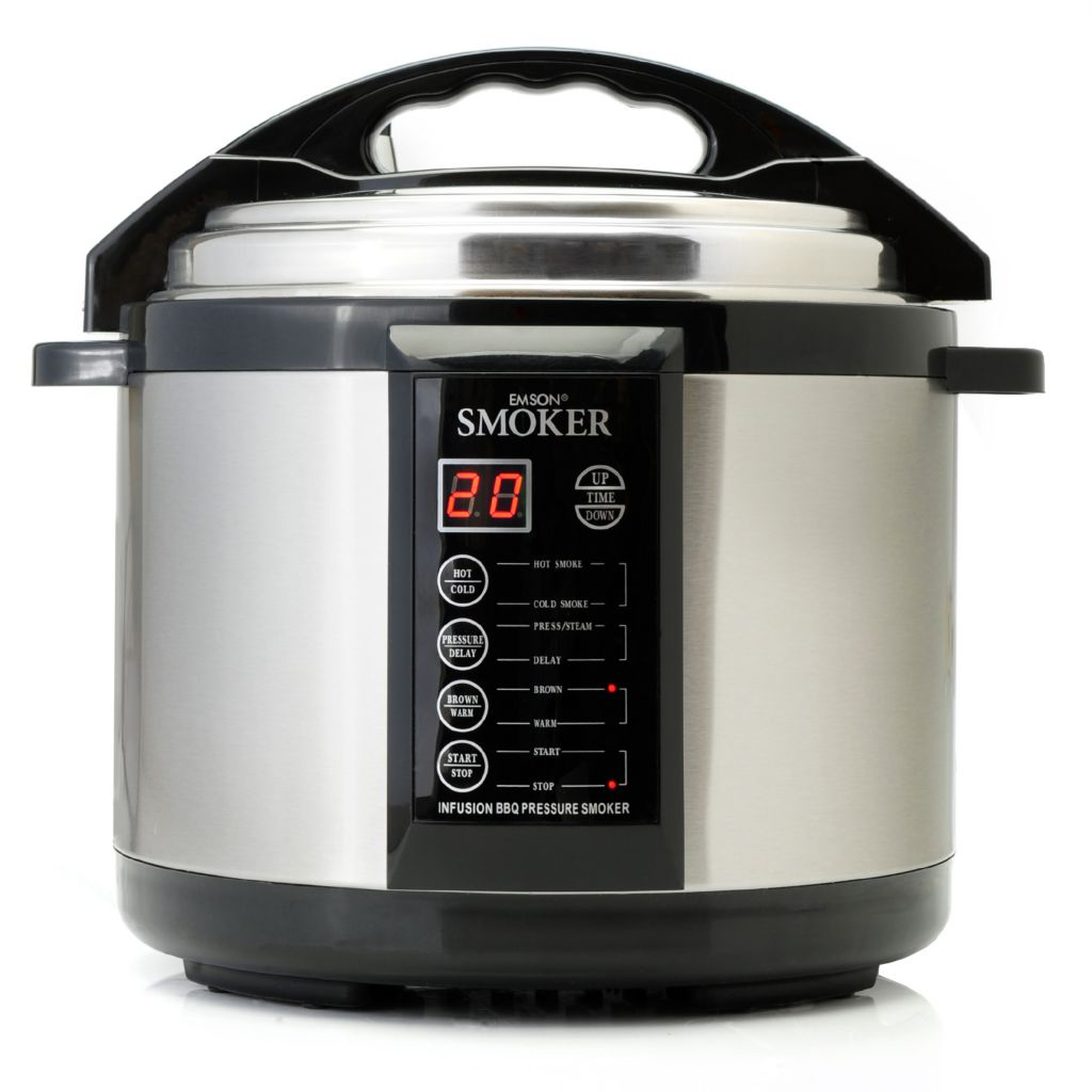 441-746 - Emson® 1000W 5 qt Indoor Multi Purpose Pressure Smoker & Cooker