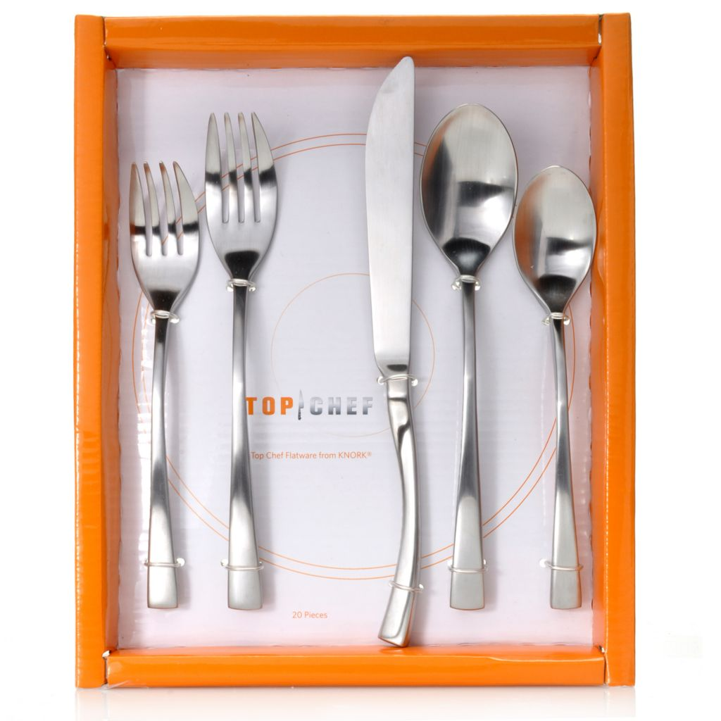 441-748 - Top Chef from Knork® 20-Piece Stainless Steel Flatware Set