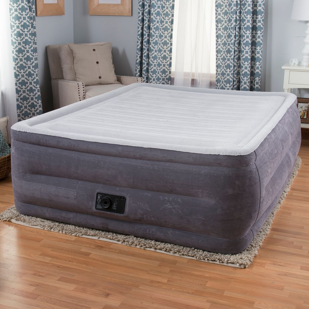 Intex Comfort Plush High Rise Profile Air Mattress w/ Built-in Pump