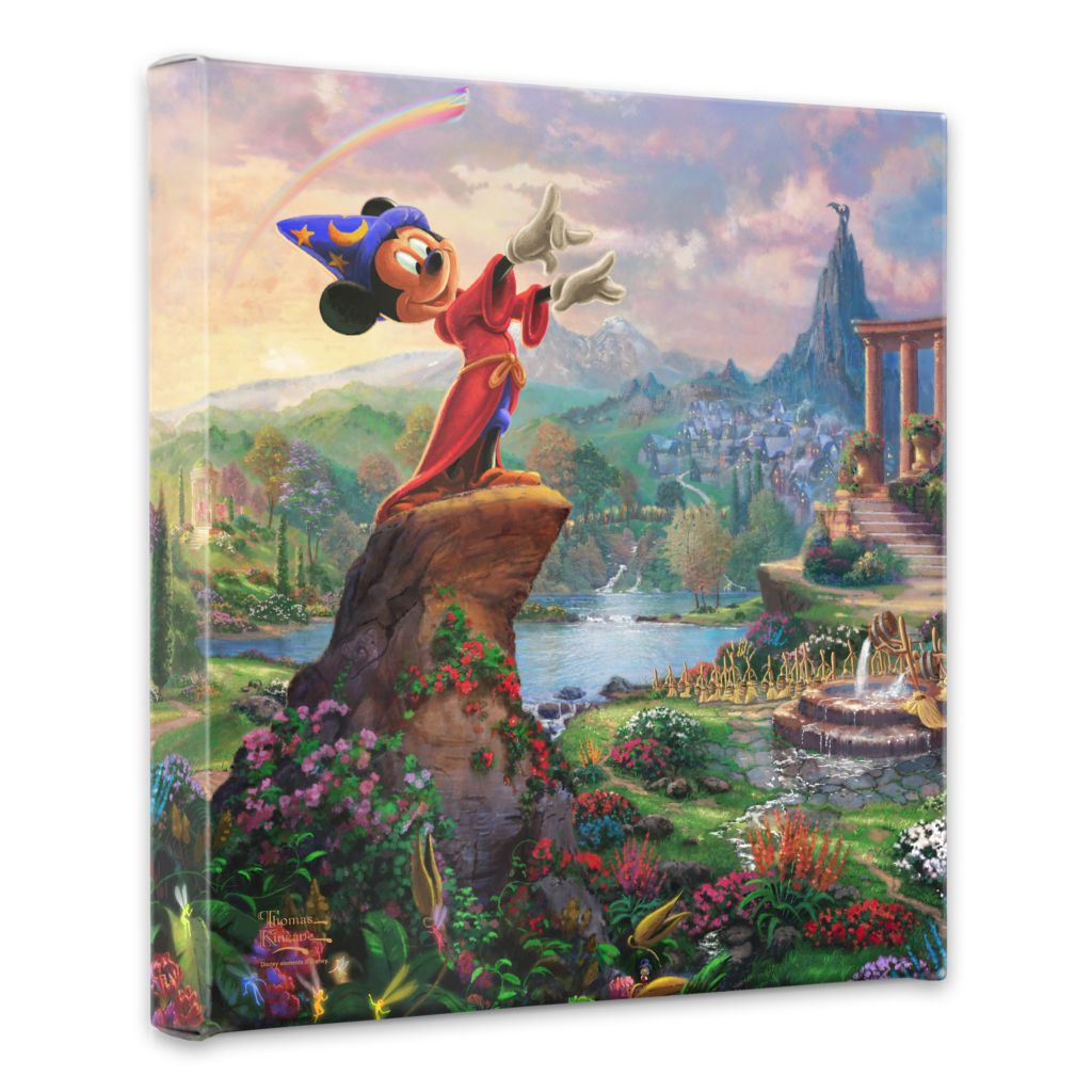 "441-802 - Thomas Kinkade Disney Dreams ""Fantasia"" 14"" x 14"" Gallery Wrap"