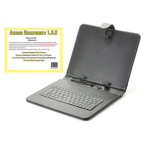 441-805 -  9.7'' Tablet Keyboard Case w/ Stand & Android™ Enhancements Software
