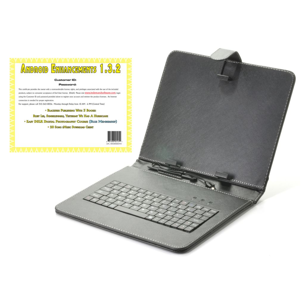 "441-805 -  9.7"" Tablet Keyboard Case w/ Stand & Android™ Enhancements Software"