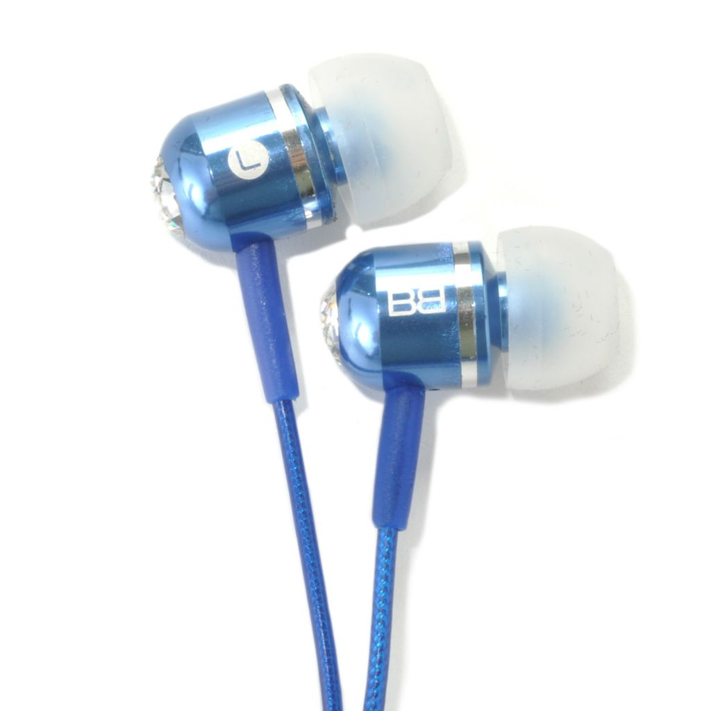 441-807 - BassBuds High-Performance In-Ear Earphones Made w/ Swarovski® Elements