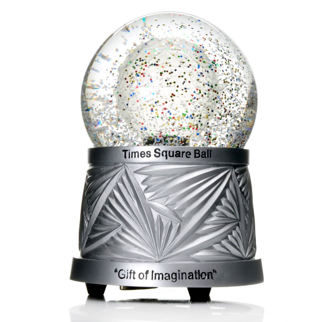 "441-819 - Waterford® 2014 Times Square New Year's Eve Ball 6"" Glass Snowglobe"