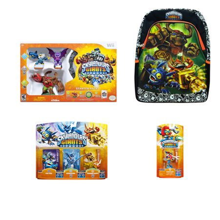 441-883 - Wii Skylanders Giants Starter with 4 Figures & Backpack