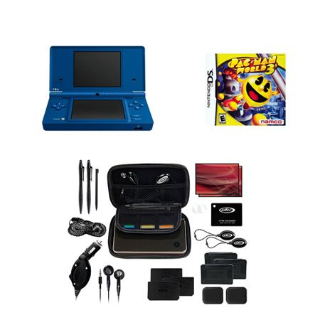 441-893 - Nintendo DSi Portable Gaming System w/ PacMan World Game & Travel Kit