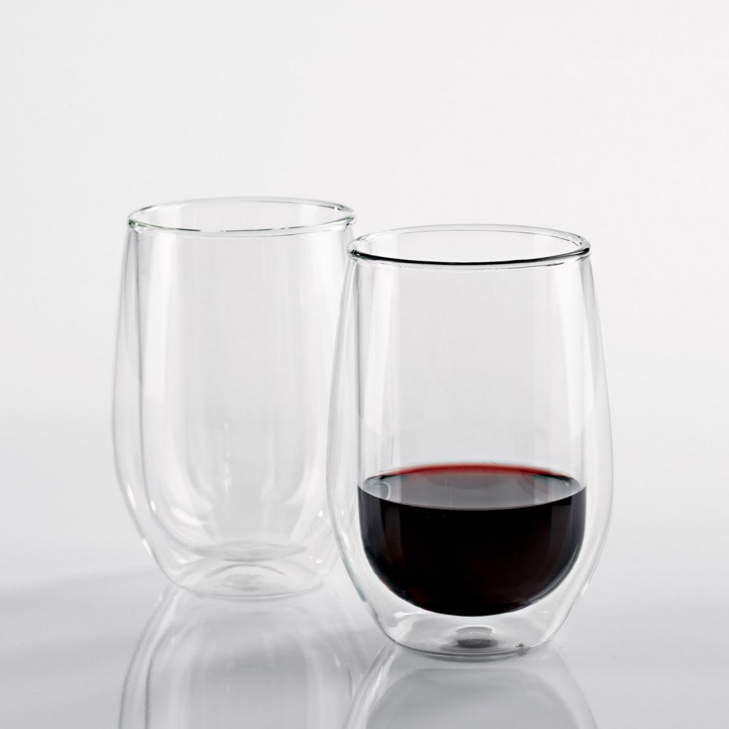 441-929 - Wine Enthusiast Steady-Temp Double Wall Glasses (Set of Two)
